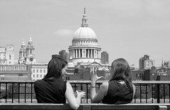 Shocking revelation in London.... (markwilkins64) Tags: stpaul'scathedral monochrome mono blackandwhite candid streetstory streetphotography street uk southbank london markwilkins