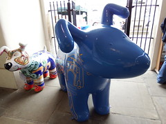 Large Blue Dog and Friend (vw4y) Tags: dogs largebluedog smallpattereneddog monmouth