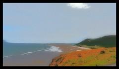 Bay (Develew) Tags: wales rhosillibay thegower posterized artfilter tones beach bay water sea hill cliffs tide lowtide