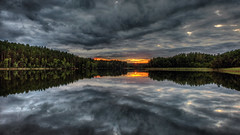 Clouds trees sunset (tonyguest) Tags: clouds trees sunset lake water sky dark ommen tindered e22 night reflections tonyguest stockholm sweden sverige nature symmetry moody ominous landscape sjö sjön scenic