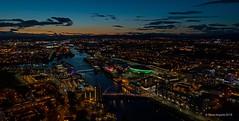 Glasgow Uk (Steven Mcgrath (Glesgastef)) Tags: dji phantom four 4 pro plus drone arial shot image photo photograph sse hydro squinty bridge river clyde city glasgow scotland uk europe night time lights west scottish sunset