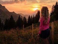 La Gruyère - Jaun / Ref.02357 (FRIBOURG REGION) Tags: suisse switzerland schweiz fribourgregion fribourgrégion lagruyère jaun grandtourdesvanils été sommer summer préalpes voralpen prealps alpes alpen alps montagne mountains berge wandern randonnée hiking sunset sonnenuntergang coucherdusoleil sky himmel ciel landscape landschaft paysage