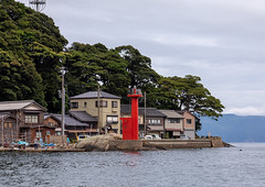 Red lighthouse in front of funaya fishermen houses, Kyoto prefecture, Ine, Japan (Eric Lafforgue) Tags: architecture asia bamboo boathouse buildingexterior builtstructure coastline colorimage copyspace cultures day fishingindustry forest funaya harbour horizontal house ine japan japan18200 journey kyotoprefecture lighthouse nopeople outdoors photography red scenics sea tourism traditionalbuilding tranquilscene tranquility traveldestinations village water waterfront woodmaterial wooden jp