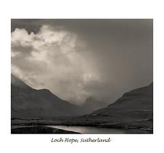 LOCH HOPE, SUTHERLAND (Rupert Nicholson) Tags: pinhol fp4 pictorialist monochrome toned landscape sutherland scotland