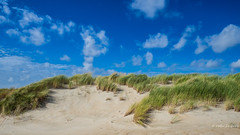 De Hors (Peter Jaspers (sorry less time to comment)) Tags: frompeterj© 2018 olympus zuiko omd em10 1240mm28 texel dehors sand beach grass blue clouds sky landscape 169 widescreen nationaalparkduinenvantexel sbb staatsbosbeheer walk autumn dunes holiday 52in2018