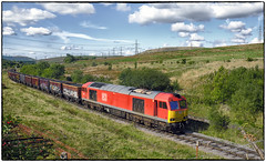 Welsh Coal Haulage (Welsh Gold) Tags: 60015 6o08 swansea burrows onllwyn coal anthracite train mea wagons neathandbreconrailway dulasivalley southwales