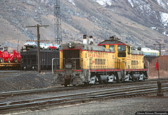 Points of Interest in the Background (jamesbelmont) Tags: unionpacific utahrailway riogrande drgw railway emd tr5 cowcalf caboose coal farmequipment chevroletnova provo utah
