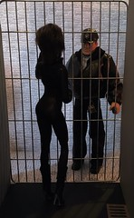 I've Been a Bad Kitty 3/10 (MaxxieJames) Tags: catwoman selina kyle poison ivy pamela isley gcpd barbie doll dolls mattel batman gotham police action man diorama prison jail cell vines collector story
