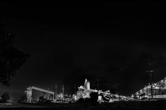 outside the margins of metropolis (pbo31) Tags: bayarea california nikon d810 september 2018 summer boury pbo31 eastbay alamedacounty pleasanton stanley boulevard vulcan industrial black dark night concrete tracks rail industry blackandwhite monochrome