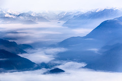 Hazy Days (One_Penny) Tags: bayern deutschland germany alps bavaria landscape mountains nature photography schoettelkarspitze soiernsee mountainscape clouds cloudscape cloudy view scenery peak morning dawn fog mist haze outdoor hiking