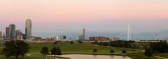 Trammell Crow Park Downtown Dallas Sunset 6x17 pano (JollyGreenJohn) Tags: dallas dallasskyline dallascityskyline texas archi scenic outdoors landscape cityscape