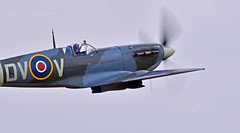 Off to display at Duxford... (Ian A Photography) Tags: aeroplanes aircraft airshow aviation duxford duxfordlegends ee602 fighters flyinglegends historicaircraft nikon planes spitfire supermarine vickerssupermarine warbirds warplanes