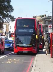 GAL EH212 - YY67UTM - NEW CROSS ROAD - TUE 6TH SEPT 2018 (Bexleybus) Tags: goahead go ahead london hybrid tfl route adl dennis enviro 400 mmc 172 yy67utm eh212 new cross road garage bus nx