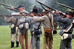 CONFEDERATE INFANTRY (MIKECNY) Tags: infantry soldier confederate south shoot rifle musket civilwar reenactment reenactor grantcottage wilton civilwarweekend