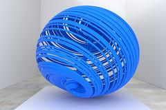 Aziwara Blue (Me & My 5D3) Tags: strange attractor photorealistic rendering blender blue plastic bundle vortex winding sculpture