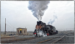 Sparks and All! (Welsh Gold) Tags: js locomotive sparks coal empties sandaoling xinjiang province china