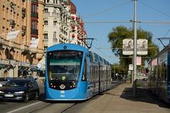 SL 461 (CAF Urbos) i Nybroplan (BahnFan99) Tags: storstockholmslokaltrafik sl stockholms spårvagn caf urbos 461 strasenbahn tramway stockholm nybroplan