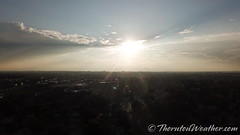 August 22, 2018 - A high view of the skies as the sun descends. (ThorntonWeather.com)