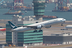 B-HNH, 777-300, Cathay Pacific, Hong Kong (ColinParker777) Tags: bhnh boeing 777 773 777300 777300a cx cpa cathay pacific airways airlines airliner air aircraft aviation fly flying flight airplane aeroplane hkg vhhh hong kong chek lap kok airport tower atc hksar canon 7d 7d2 7dmk2 7dmkii 7dii 200400 l lens zoom telephoto