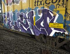 ALAMO (TRUE 2 DEATH) Tags: alamo cdc longexposure boxcar train freight railroad benching railfan railcar trains graffiti graf railways tag freighttrain freighttraingraffiti rollingstock