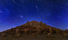 Mount Nemrut (Binnur Can) Tags: night nightphotography startrails stars mountnemrut historicalplaces statues ©2018allrightsreservedbinnurcan longexposure