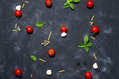 Pasta pattern. Several types of dry pasta with vegetables and herbs on a dark stone table. Free space for text. Top view (lyule4ik) Tags: pasta raw cooking italian pattern spaghetti background cuisine food kitchen noodle space tomato traditional uncooked top cherry culinary ingredient recipe cheese dark grater mediterranean red board italy macaroni nutrition tagliatelle yellow healthy vegetarian design grinder herb overhead paste pepper preparation preparing spices garlic basil various dry copy ingredients wooden meal