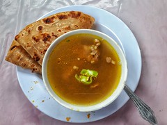 Chicken soup and chapati