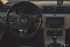 Interior (TheBeardPhotography) Tags: vw volkswagen slammed road block matte cc light painting parked cool blue wallpaper bridge bw