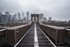 Brooklyn Bound Snow Flurry (cassidyduberry) Tags: america newyork brooklyn brooklynbridge cityscape winter snow january travel atmosphere sony a7ii 18mm wideangle photography flurry storm landscape