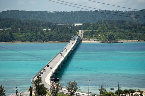 View of the bridge to Kouri island from the Tower.