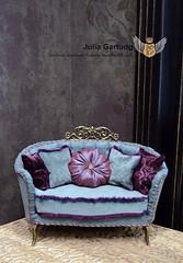 "Sofa ""Royal"" 1:4 (JuliaGart) Tags: julia gartung sybarite sofa scale 14 numina kd kingdomdoll pillow ooak furniture for doll"