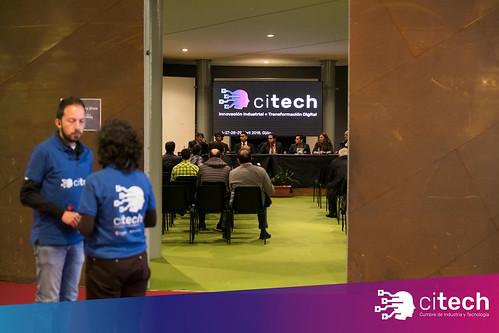 Parte del equipo de Citech durante la Mesa Redonda Gijón Smart Cities