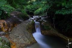 fraicheur auvergnate (jean milande) Tags: eau pose longue couleur fraicheur verdure torrent cascade pelouse foret arbre paysage pierre