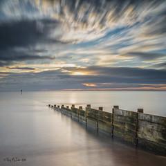 DSC02590 Groyne and post (Ray McIver Photography) Tags: blyth groynes sept18 beach goodsky hightide sunrise