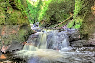 Finnich Glen in Stirlingshire, Scotland, UK