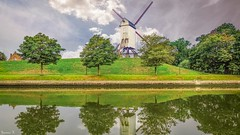 Windmill - 5901 (ΨᗩSᗰIᘉᗴ HᗴᘉS +23 000 000 thx) Tags: moulin bruges windmill water hensyasmine namur belgium europa aaa namuroise look photo friends be wow yasminehens interest intersting eu fr greatphotographers lanamuroise
