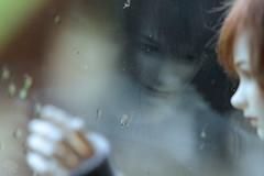Ghosts in the Rain (redmaiko) Tags: dollshe fashion maxi arsene rain window reflection msd bjd