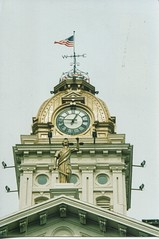Newark  Ohio - Licking County Courthouse - Historic (Onasill ~ Bill Badzo - 56 Million Views - Thank Yo) Tags: 105 landmark nrhp stores shops restaurant civic classical downtown mainstreet sculptures justice lady style architecture building exterior interior onasill townsquare historical courthousesquare victorian empire second historic murals bench court courthouse lickingcouny oh ohio newark painting ceiling rotunda room old vintage photo