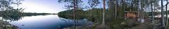 Ranta panorama panoraama (Ville.fi) Tags: ranta panorama panoraama järvi lake summer evening ilta mökki sauna nuotio sony a7riii a7r3