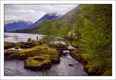 Oldevatnet(Norway) (williamwalton001) Tags: norway pentaxart fjord mountains buildings borders bridge trees pinnaclephotograghy