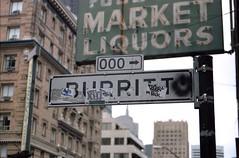 Burritto Street (marmotfotos) Tags: burrito graffiti signs sanfrancisco california biketouring