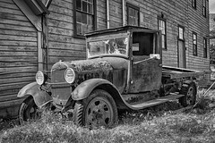 Better Days (D E Pabst Photography) Tags: ford neglected rusted classic monochrome automotive truck garfieldcounty car southeastwashington pomeroy blackandwhite