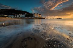 Llandudno Sunrise (E_W_Photo) Tags: llandudno conwycounty wales sunrise beach pier wave seagull promenade canon 80d sigma 1020mm leefilters