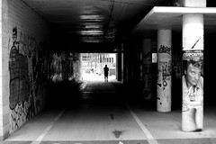 In the frame (pascalcolin1) Tags: paris13 homme man tunnel chanel lumière light cadre frame photoderue streetview urbanarte noiretblanc blackandwhite photopascalcolin 50mm canon50mm canon johnnyhallyday
