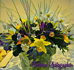 COPYING NATURE (elbetobm thanks +8.800.000 views) Tags: copyingnature flickr elbetobm photographer flowers artificial espontaneous colors colorful mytablevase samsunggalaxys7edge montevideo uruguay southamerocan riodelaplata artwork yellow violet table vase green spring lovely beautiful pocitos eingedicht creation grand image shot glass light art painting cool delightful simply display fave excellentartwork composition eye amazing capture presentation fine