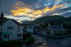 Sunset over the Ochils in Tillicoultry (p.mathias) Tags: sunset evening scottish scotland europe ochil ochils village cloudy cloud clouds street clackmannanshire tillicoultry unitedkingdom sony a5100