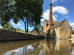 Lower Slaughter Mill (Nick_Fisher) Tags: lower slaughter mill nickfisher stream reflection chimney cotswolds