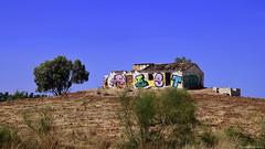 Graffiti (ricardocarmonafdez) Tags: landscape country arbol tree casa house ruin ruina graffiti cielo ski blue sunlight contrast nikon d850 24120f4gvr