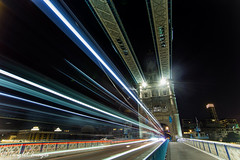 Tower Bridge Drive by (Twiglet Images) Tags: nikon d600 london thames tower bridge night time light trails capital city van friday drive by road way lines