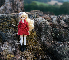 Big boots (pure_embers) Tags: pure embers doll dolls uk pureembers photography laura england fashion bluefairydoll minimay honey cute pretty outside portrait korean bunny red coat trees nature dolly